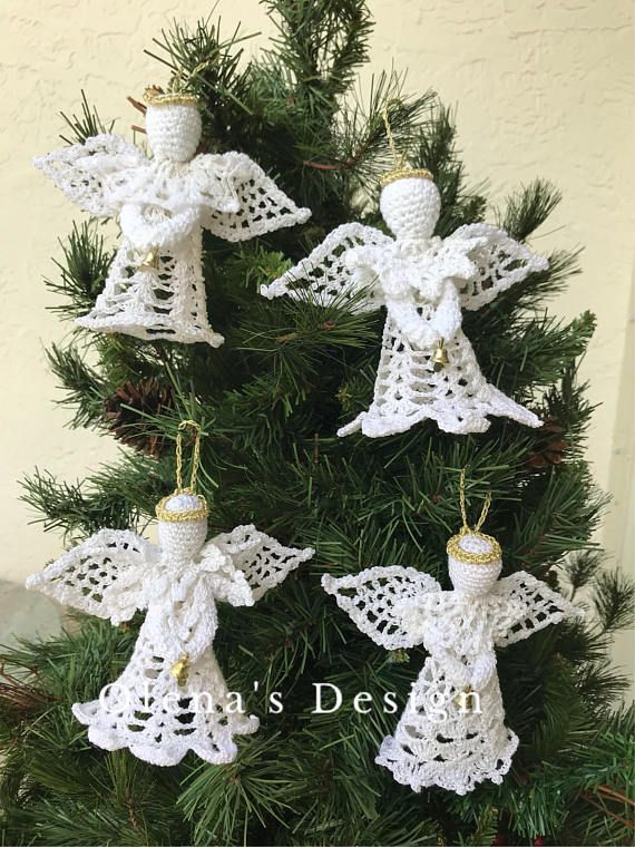 Crochet Amigurumi Angel Crochet Miniature Angel Christmas Etsy Christmas Angels Crochet Amigurumi Miniature Angel