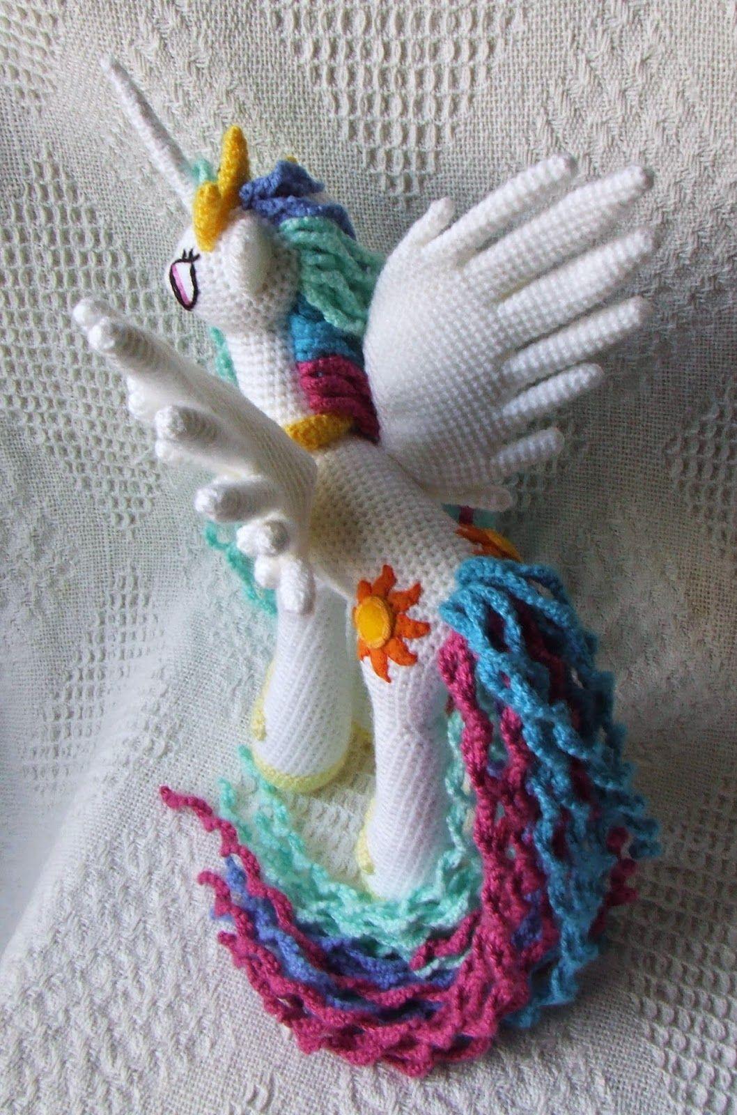 Princesa Celestia Amigurumi * My Little Pony | Pinterest | Princesas ...