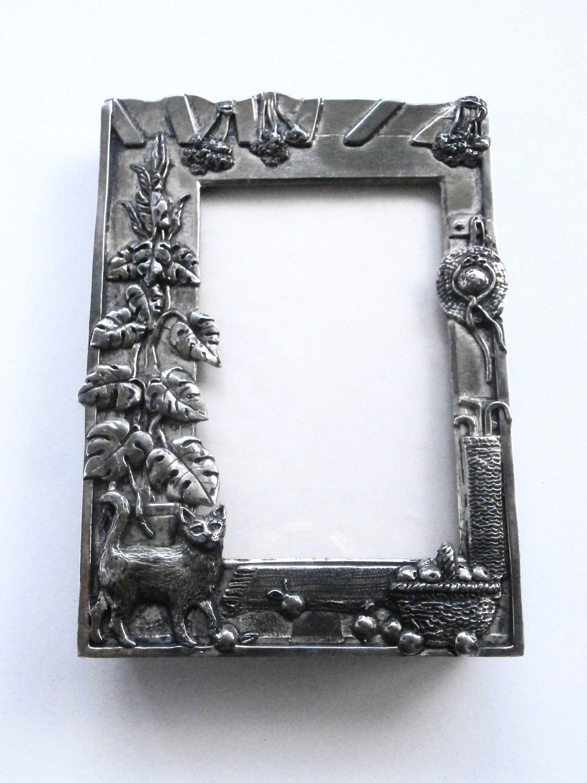 Silver Plated Photo Frame - Vintage Frame - Decorative - Poem Frame ...