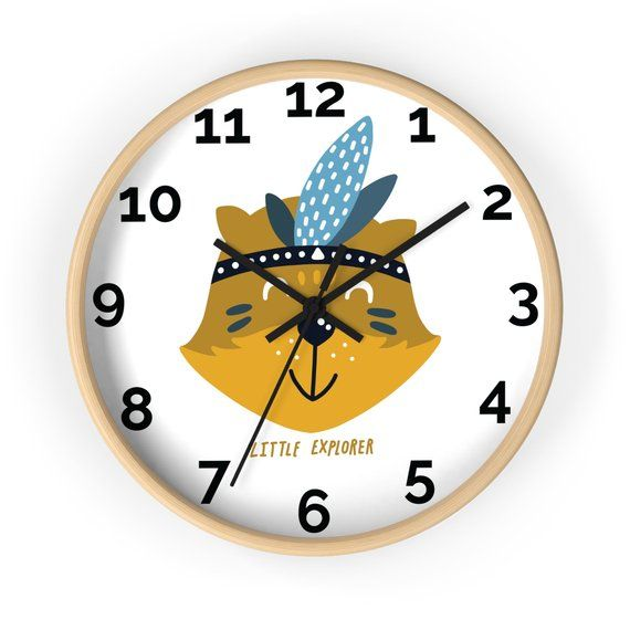 Woodland Nursery Decorative Wall Clock Kids Room Art Baby Clocks