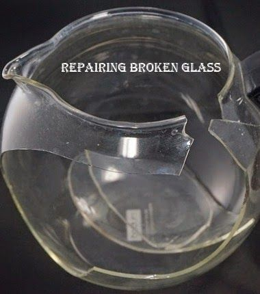 How To Use Uv Adhesive For Repairing Broken Glass Home Pinterest