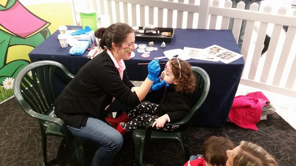 Amanda, our Director and Face Painting Artist in action