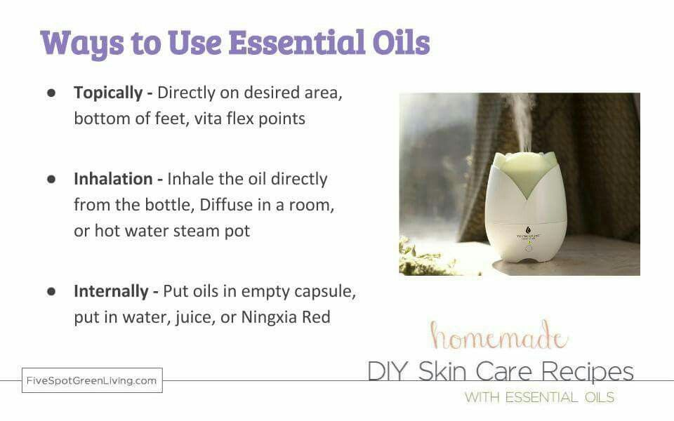 Ways to use Essential oils.