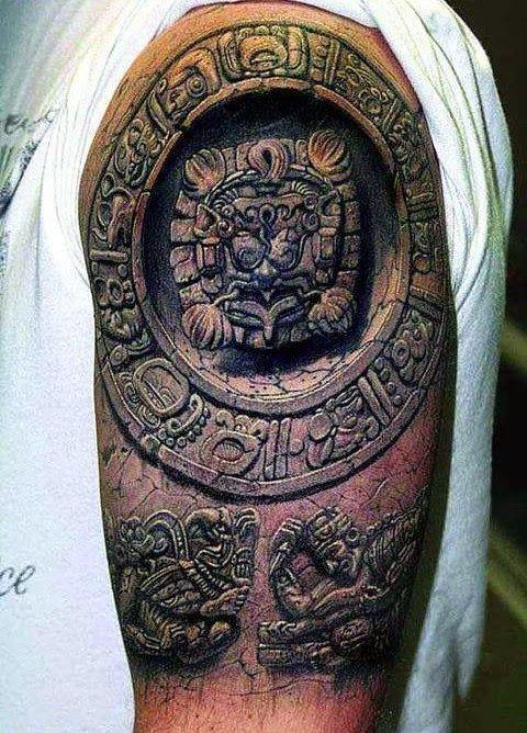Sleeve Tattoos For Men Jere Tattoo Ancient Tattoo Mayan Tattoos Optical Illusion Tattoo