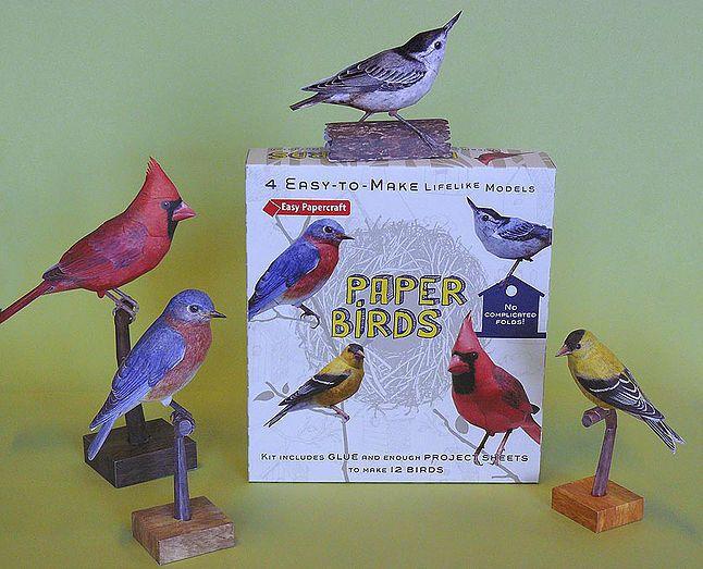 Johan Scherft - 3D Bird Paper Template - available via Barnes & Noble - website-johan-3 | Paper Birds Kit