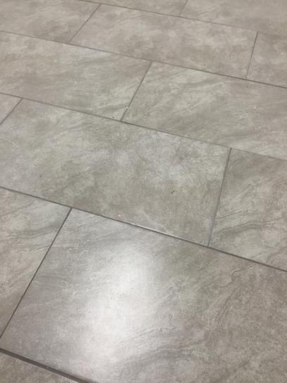 Trafficmaster Portland Stone Gray 12 In X 24 Glazed Ceramic Floor And Wall Tile 15 01 Sq Ft Case Ulp8 At The Home Depot Mobile