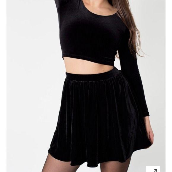 American Apparel Velvet Stretch Skirt American Apparel Velvet Stretch Skirt in black. Size XS. Only worn once. American Apparel Skirts