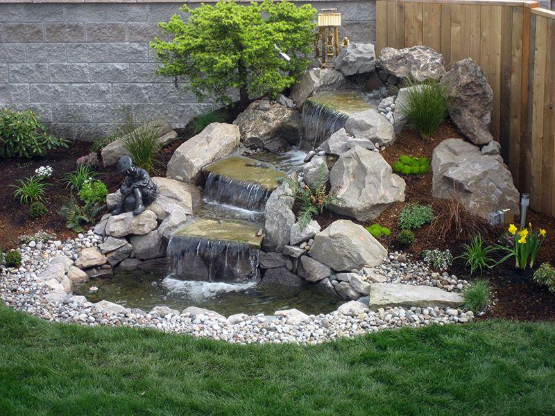 Easy Diy Garden Water Features How To Garden Gardening Tips Water Features In The Garden Waterfalls Backyard Waterfall Landscaping