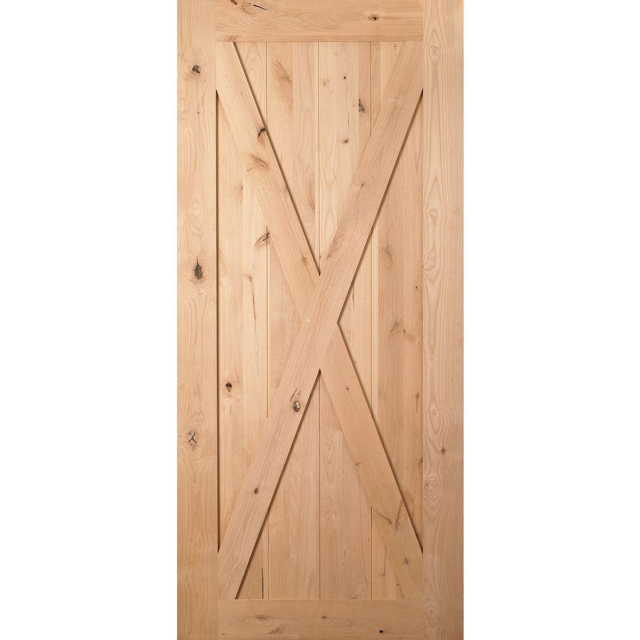 Masonite Classics Knotty Alder Barn Interior Door (Common: 36 In X 84 In;  Actual: 36 In X 84 In)