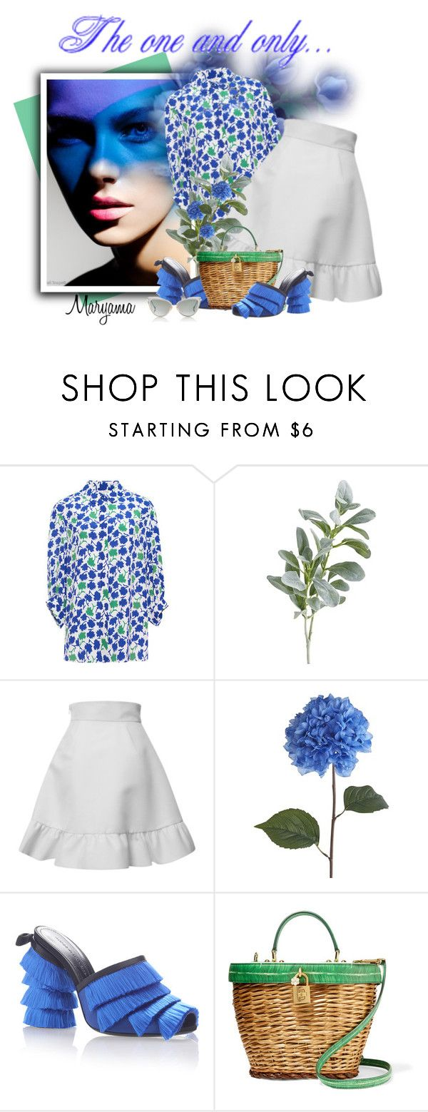 """""""746"""" by klukina-mv ❤ liked on Polyvore featuring Giamba, Pier 1 Imports, Emanuel Ungaro, Marco de Vincenzo, Dolce&Gabbana and Dita"""