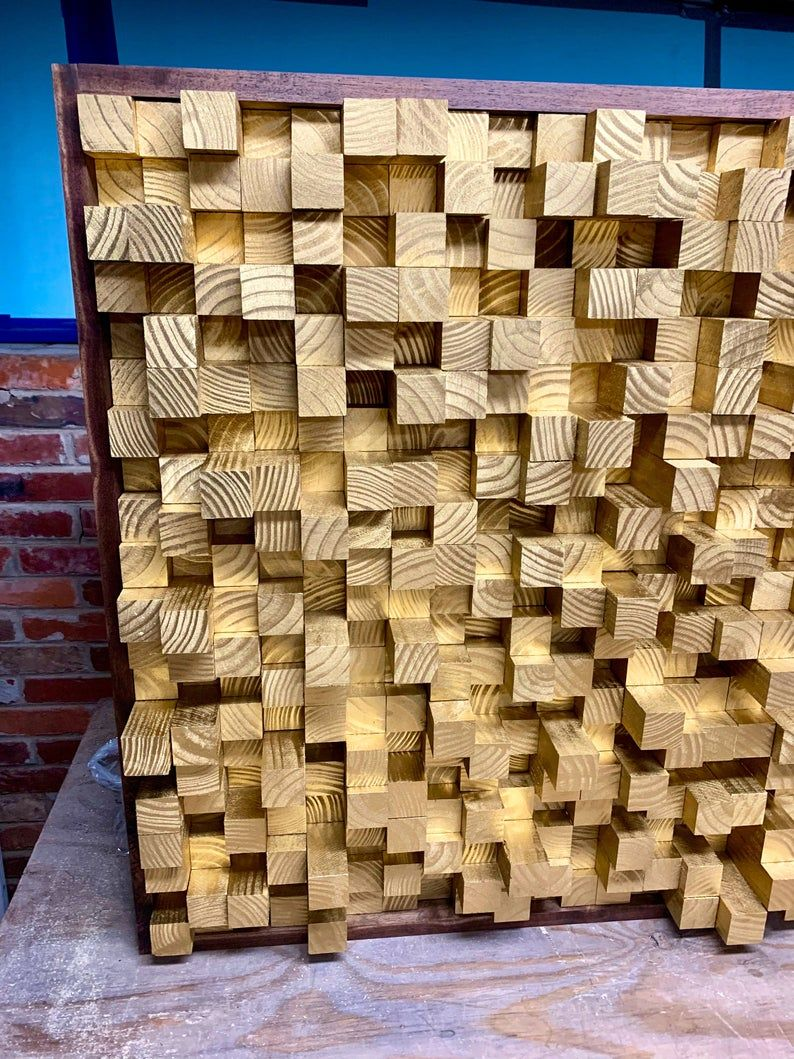New Wooden Sound Diffuser Acoustic Panel Soundproofing Etsy In 2020 Acoustic Panels Sound Proofing Sound Panel