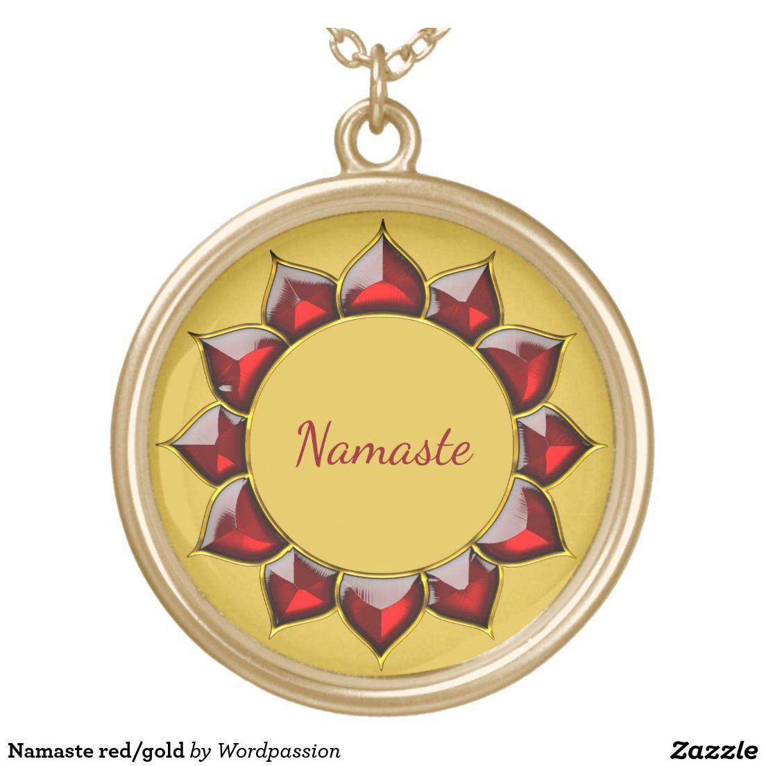 Namaste red/gold