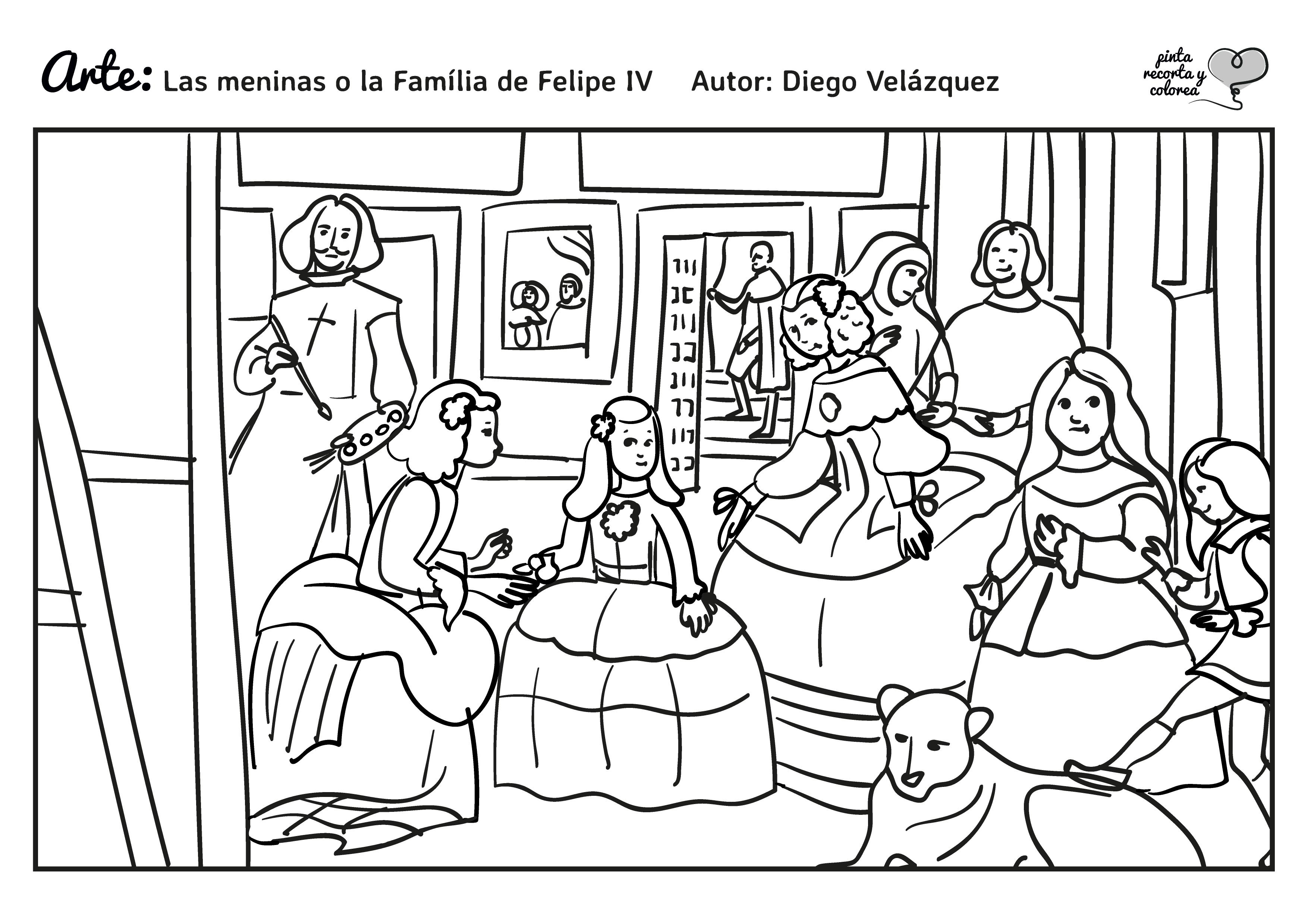 Dibujo Para Colorear Viajar: Resultado De Imagen De Dibujos De Las Meninas