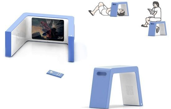NapTV lets you watch TV and sit on it too