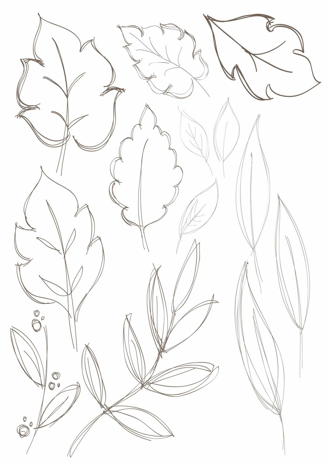 Leafy floral drawing leaf drawing nature drawing doodle drawings pencil drawings
