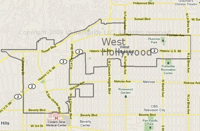 west hollywood maps pinterest west hollywood