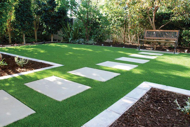 stepping stones in grASS grass lawn san rafael ca