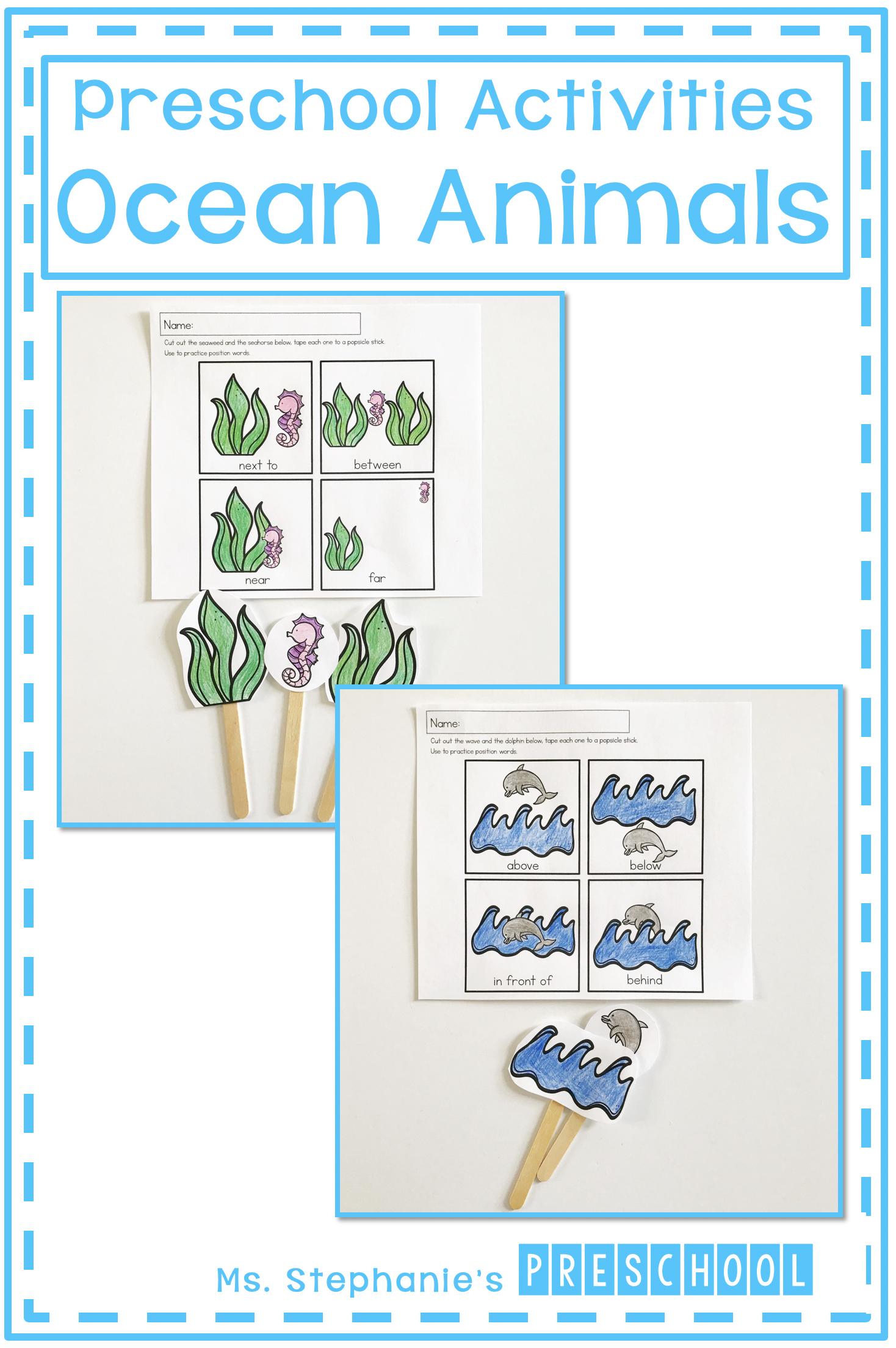 Ocean Animal Activities For The Preschool Classroom In