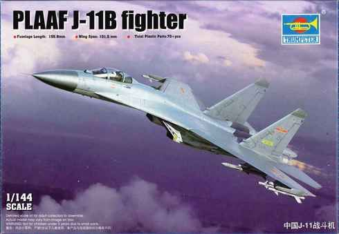 Trumpeter TR03915 PLAAF J-11B Fighter 1:144 Scale Aircraft Model Kit