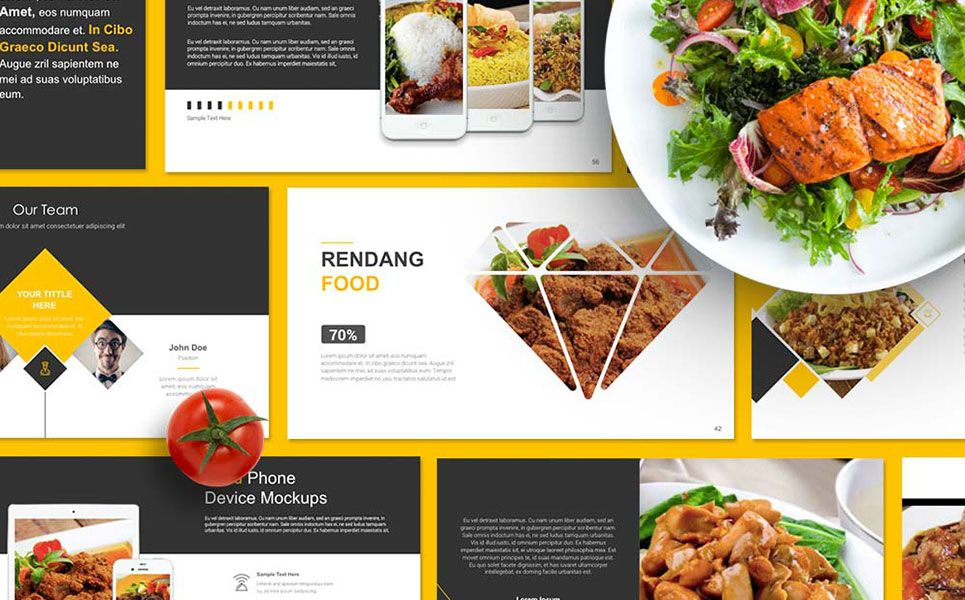 Food Presentation Powerpoint Template Web Template Ideas