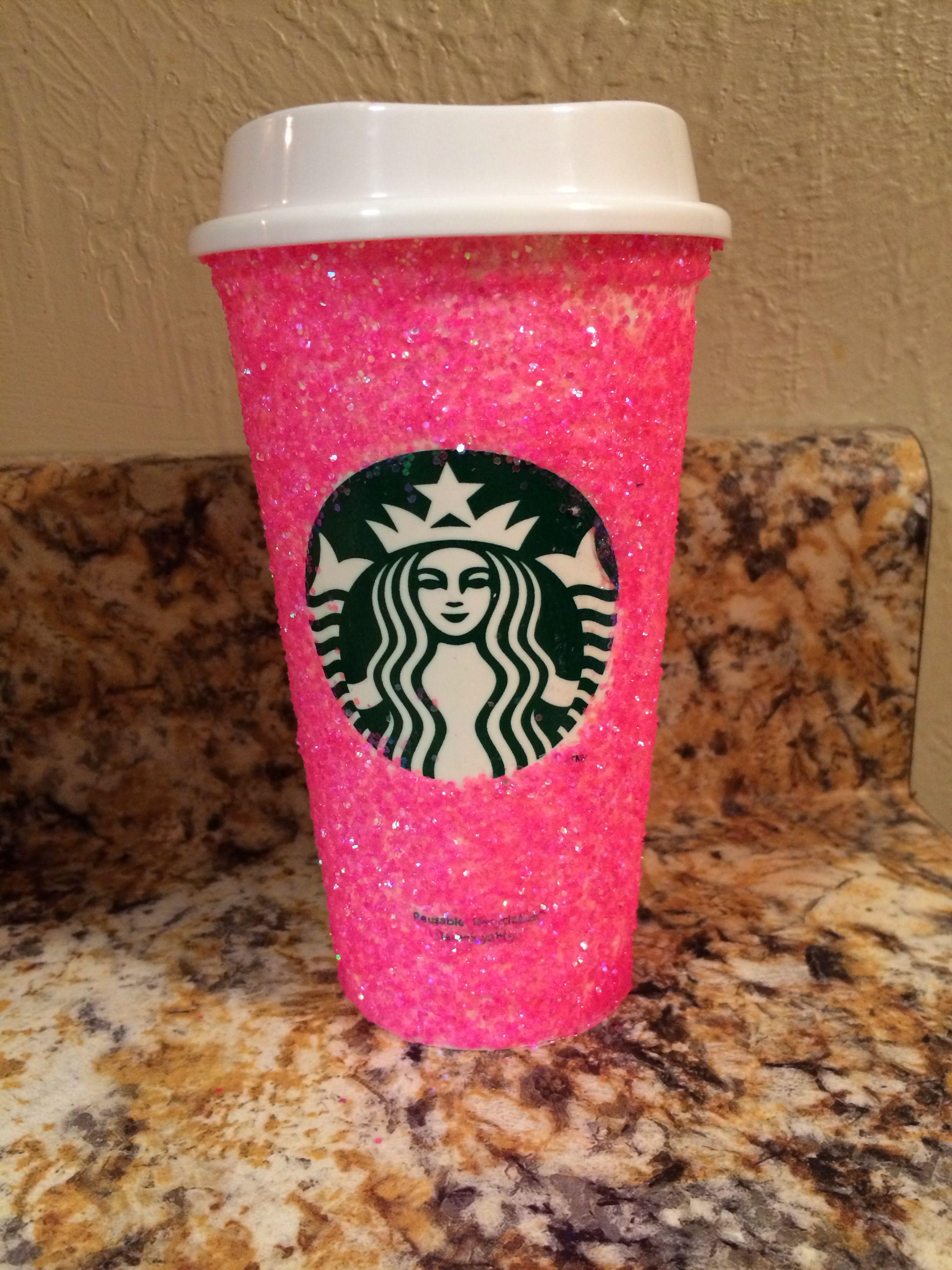 Neon Starbucks cup! Starbucks Pinterest Starbucks