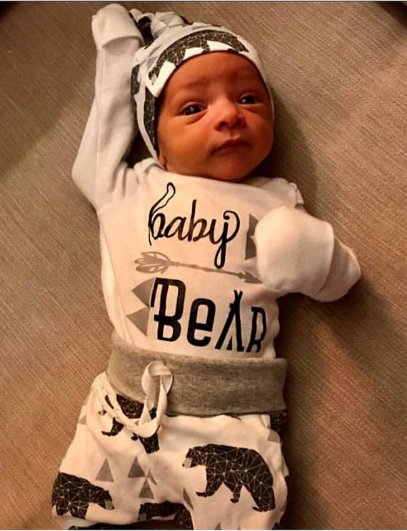 Baby boy coming home outfit/baby bear/ take home outfit/ newborn boy ...