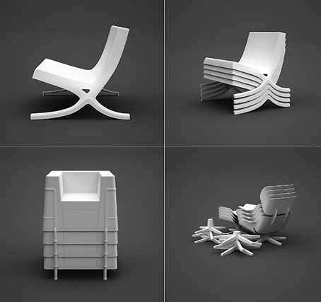 Stacking Hommage | Design  Three Classics Of Design History, The Barcelona  Chair, The