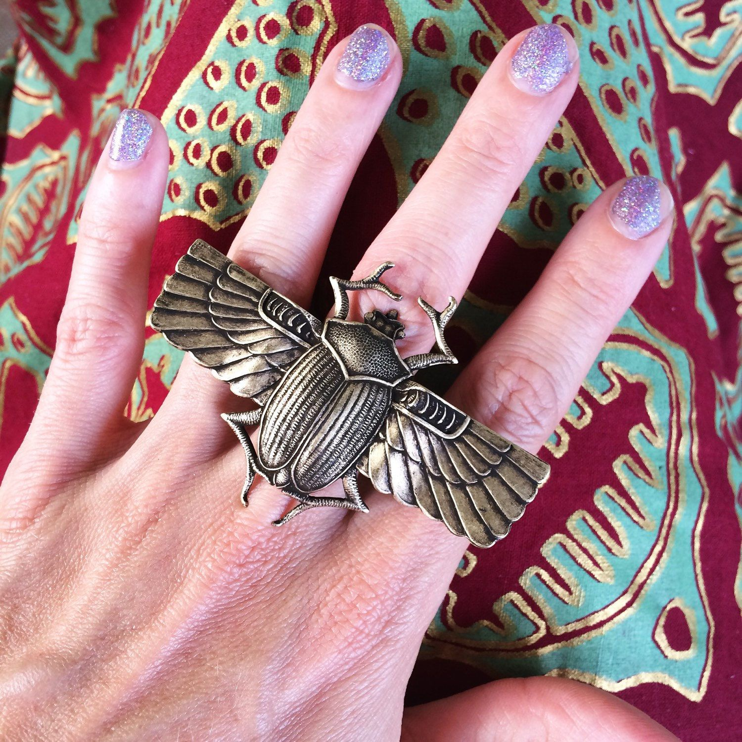 Giant vintage style scarab ring, now available online and at hey tiger in Louisville, KY.        . . . . . #hellostranger #handmade #handmadering #handmadejewelry #jewelryforsale #etsy #etsyshop #etsyseller #etsyjewelry #ring #steampunk #statementaccessories #accessories #handmadeaccessory #onlineshop #girlboss #entrepreneur #selfemployed #jewelrymaker #livethelifeyoulove #beetle #spiritanimal #symbology #makersgonnamake #justlisted #supporthandmade #handmadewithlove