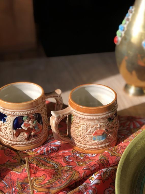 Japanese Tea Cups Matching Pair Vintage Sanyo Japanese Coffee