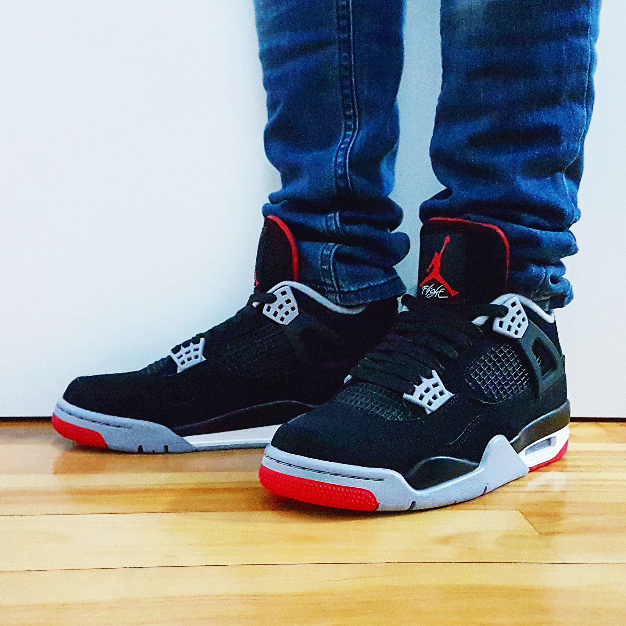 "super popular 9cbfc a9b2e Go check out my Air Jordan 4 Retro ""Bred"" 2019 on feet ..."