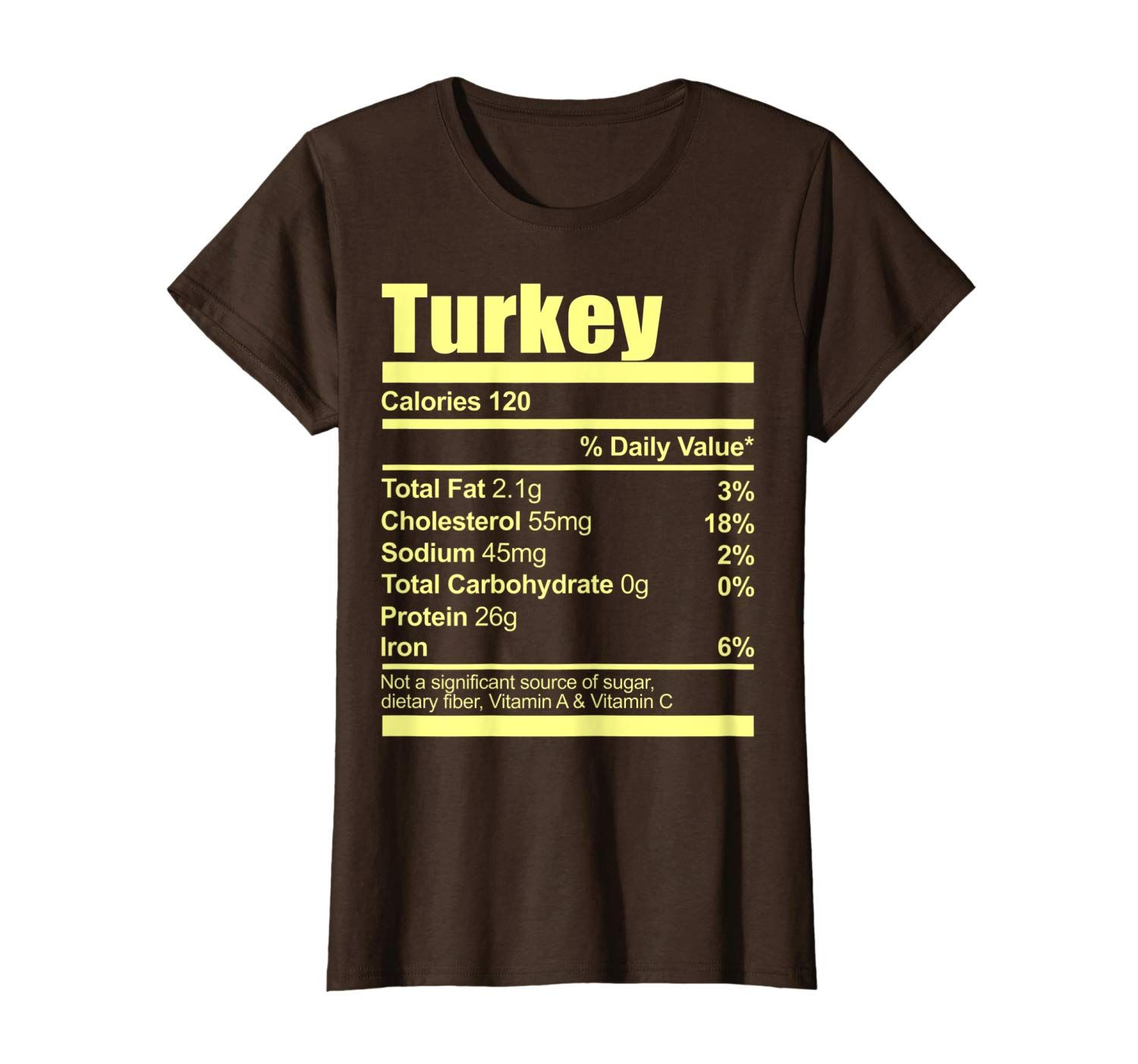 Funny Turkey Nutrition Thanksgiving Costume Women Men Gift
