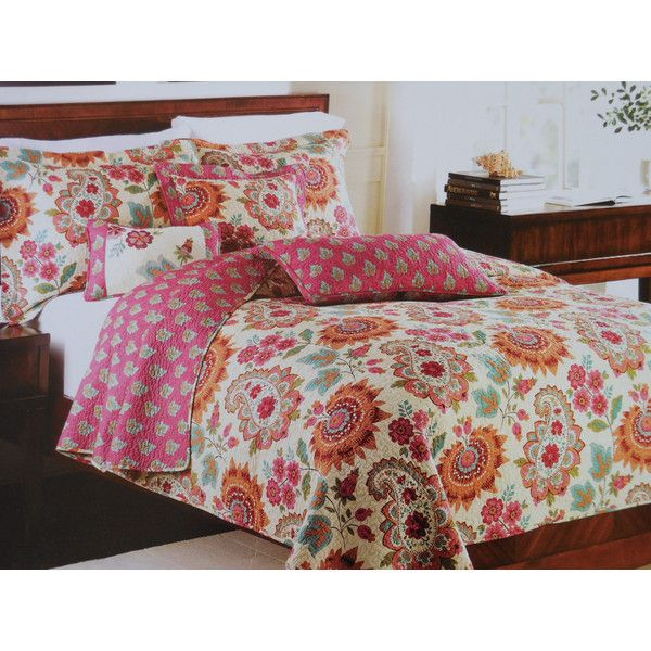Carole Little Kenji Veneto Quilt Paisley Floral Sunburst Artistic Accents Found On Polyvore Bedding Sets Best Bedding Sets Bed Styling