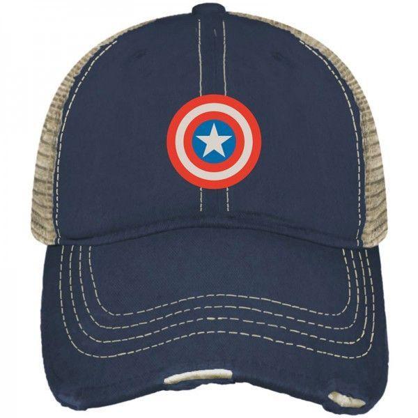 Marvel Legends Captain America Shield Retro Brand Vintage Mesh Adjust Hat Cap