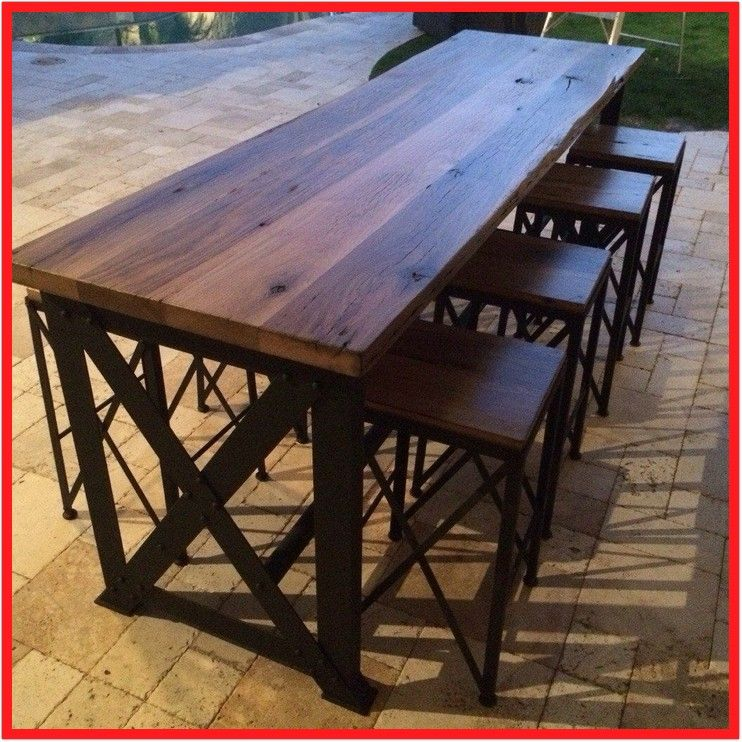 100 Reference Of Outdoor Timber Table And Chairs In 2020 Outdoor Bar Height Table Outdoor Bar Table Wooden Table And Chairs