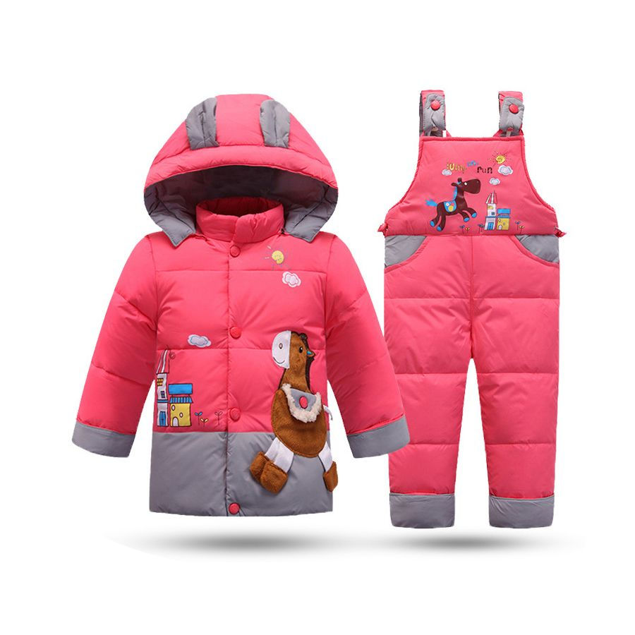 62d432f08 Down Jacket For Girls Baby Snowsuit Winter Overalls For Baby Boys ...