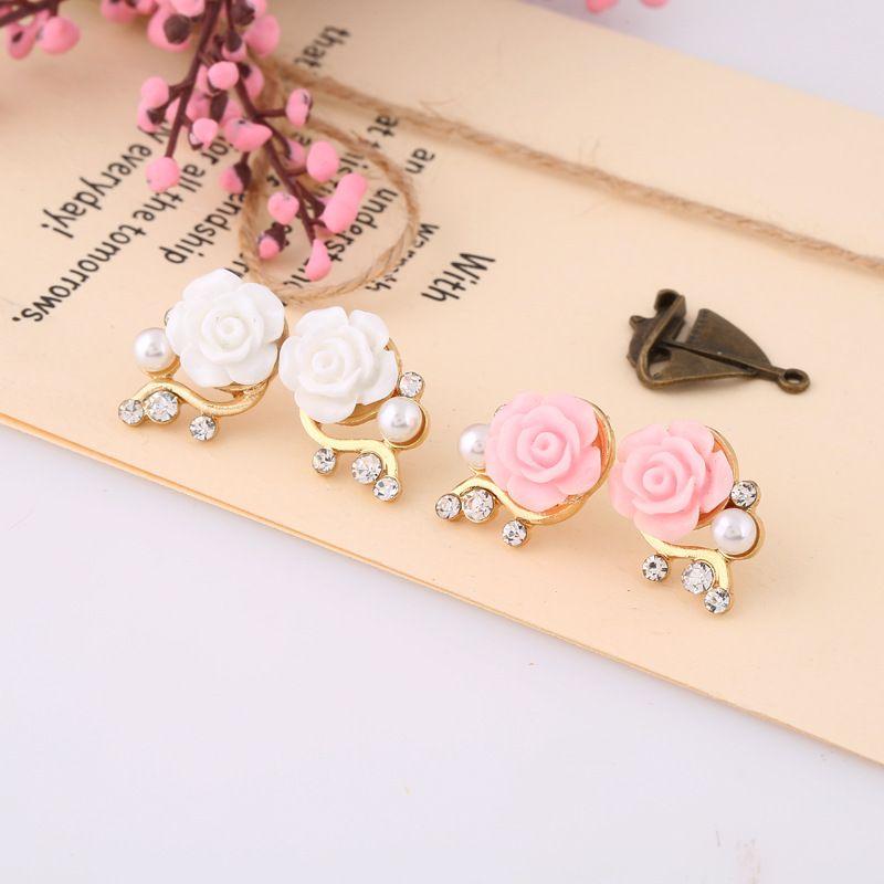 Zoeber New Design Daisy flowers stud earrings for women Cute ...