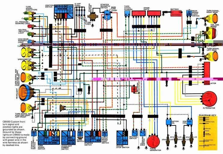 Cdi Motorcycle Wiring Diagram And Honda Wire Cdi Wiring Diagram Schematics Online Cb650 Electrical Wiring Diagram Electrical Diagram