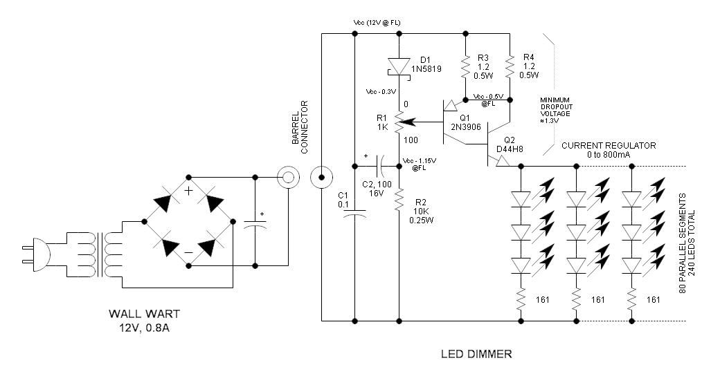 12v Led Dimmer Circuit Communicatie Poster