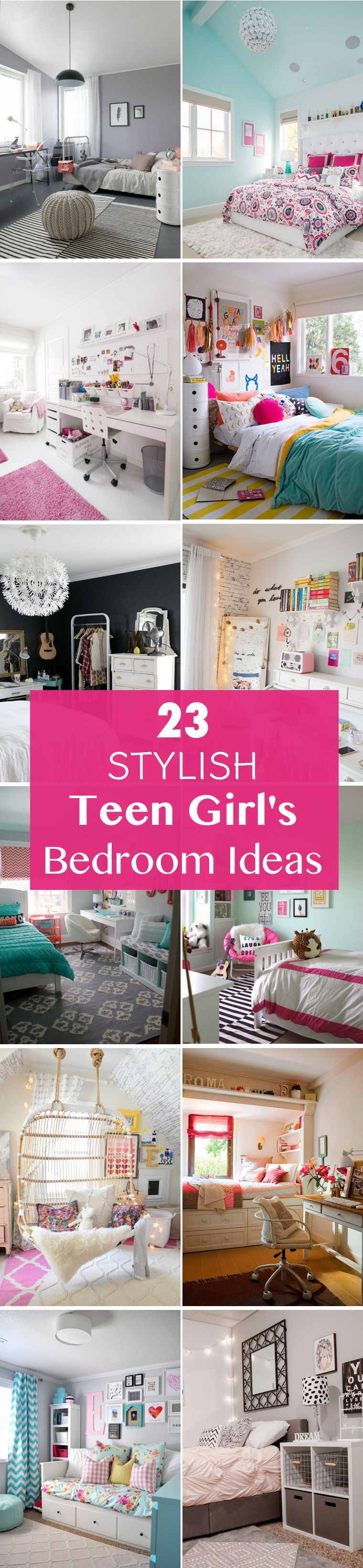 Transform Your Girlu0027s Bedroom Into A Space That Reflects Her Unique Teen  Style With These 23 Stylish Teen Girlu0027s Bedroom Ideas