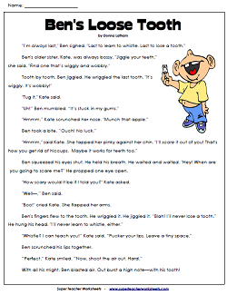Reading Comprehension Stories on SuperTeacherWorksheets.com ...