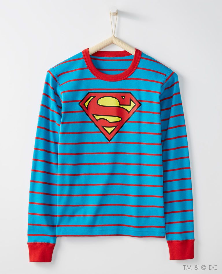 f4266313c4 Adult JUSTICE LEAGUE™ SUPERMAN™ PJ Top In Organic Cotton in Superman - main