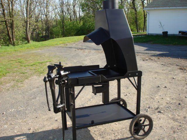 homemade coal forge. ed\u0027s metal creations: homemade coal forge w