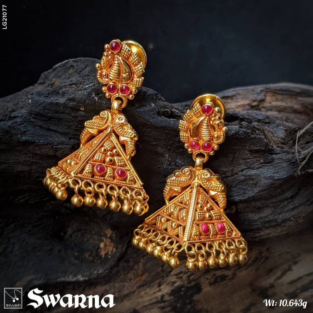 Affordable latest gold jhumka designs are here south