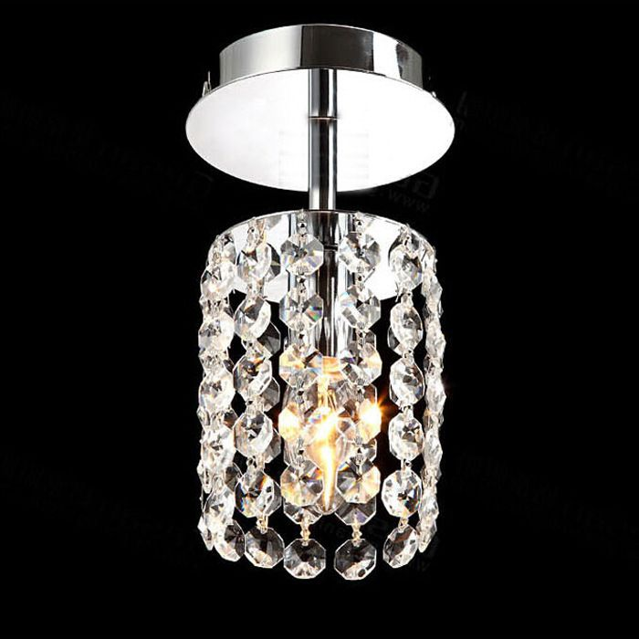 Crystal Pendant Lights Aisle Lighting Small Lamps Modern Ceiling Balcony Lamp LED LampS Entrance
