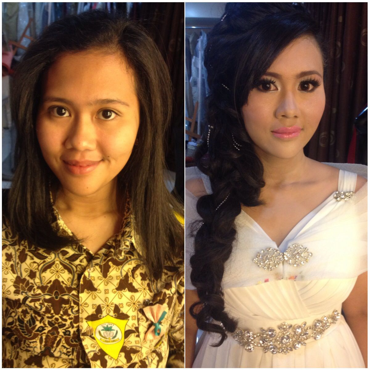 Make up and hair do for prompday
