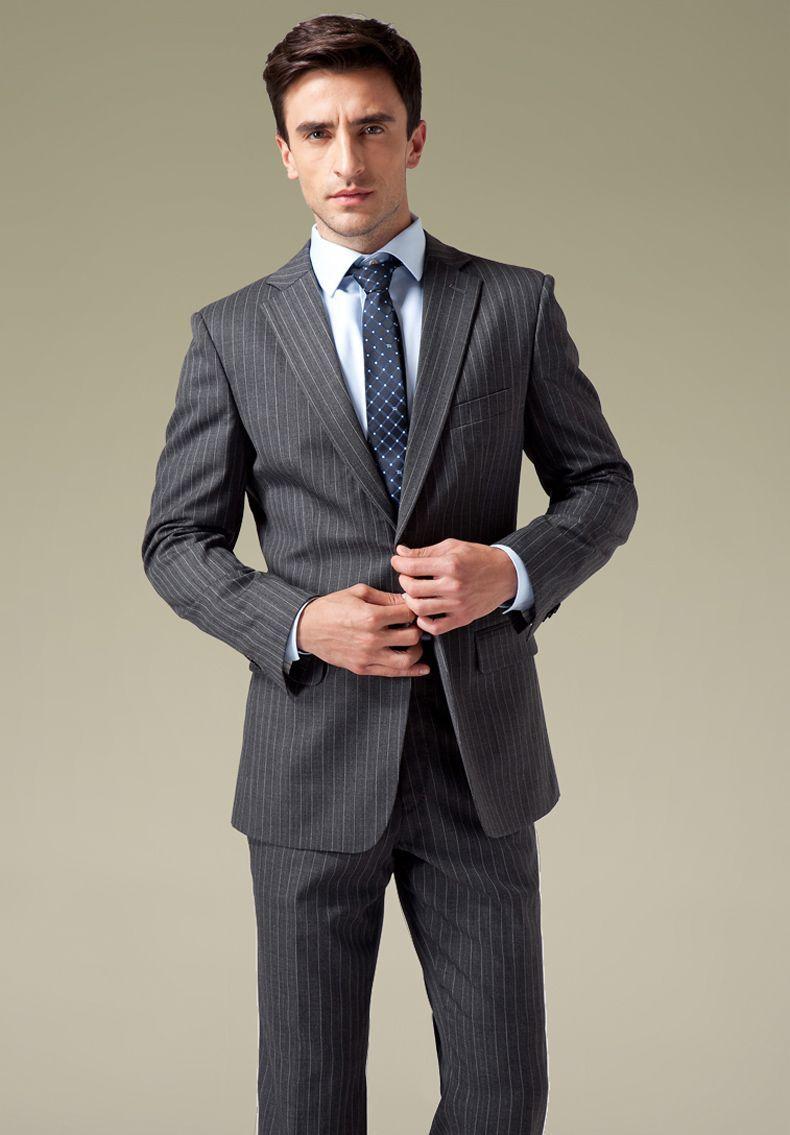 Grey Elegant Business Suits For Men  d16987275