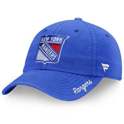Women's Fanatics Branded Royal New York Rangers Fundamental Adjustable Hat