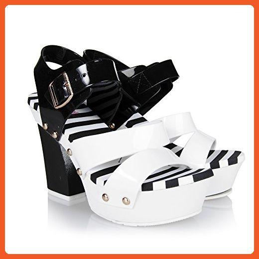 e5ff58da91787c Chemistry® MACY-2 Womens Sandal Open Toe High Heels Jelly Shoes Sandal High  Platform Wedge Pump Sandals (6 B(M) US