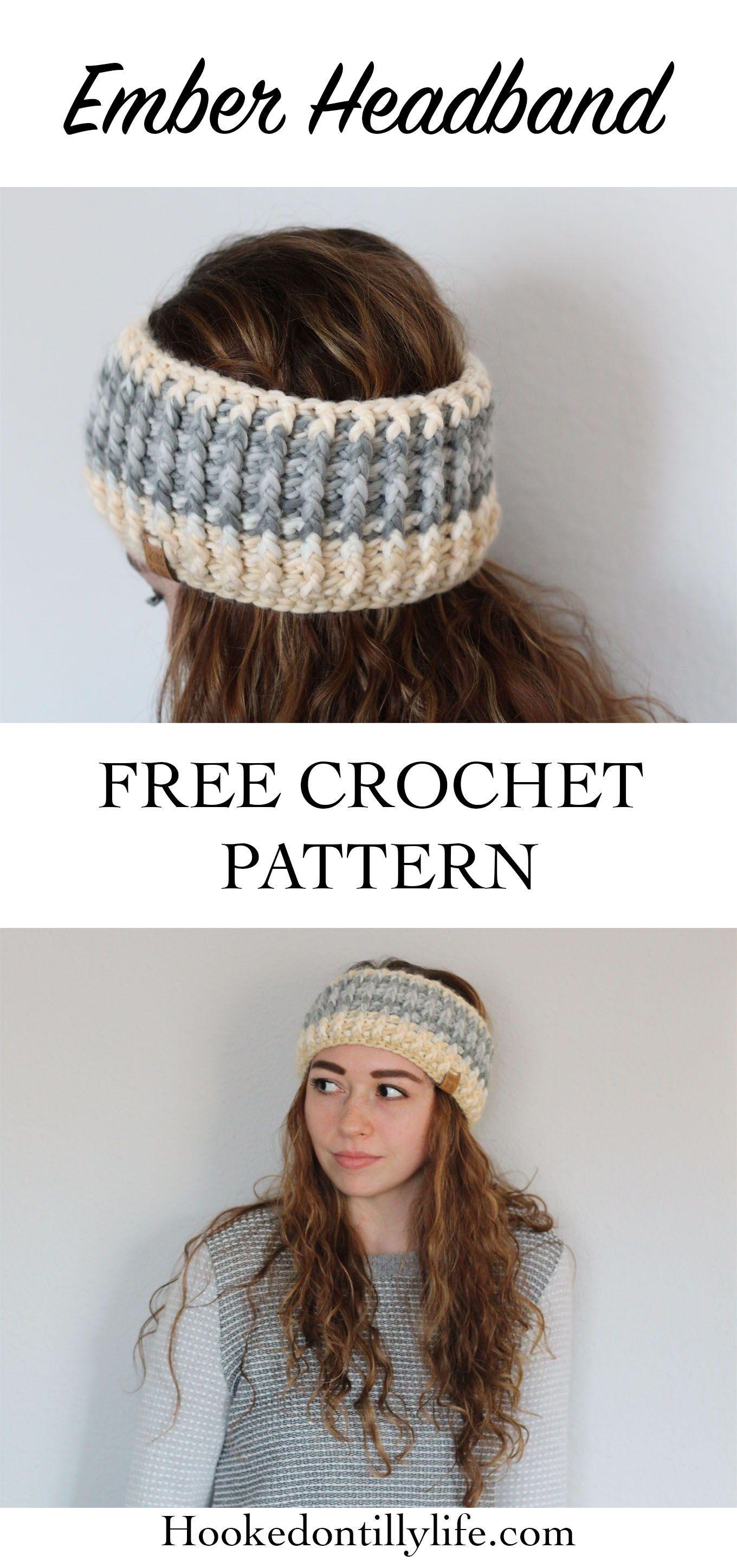 Ember Headband - Free Crochet Pattern #crochetheadbandpattern