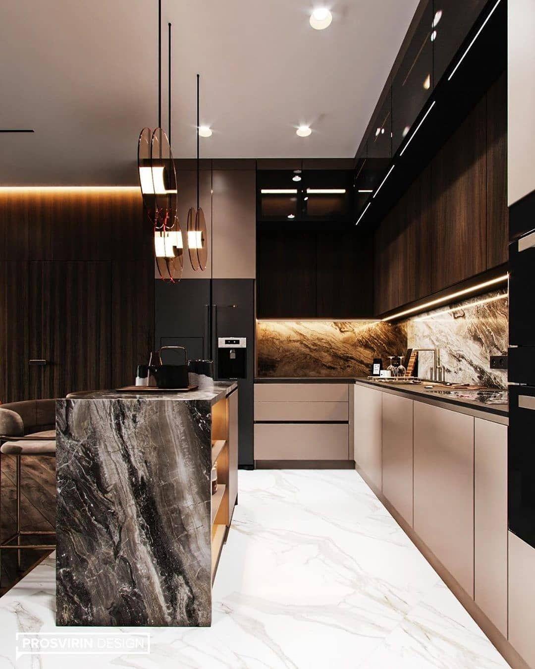 "INTERIOR FOR INSPO on Instagram: ""follow @interiorforinspo . what do think about this kitchen? . Reposted from @prosvirin_design . #moderninterior #interiordecor…"""